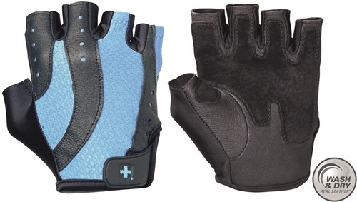 Harbinger Women's Pro Wash & Dry Fitness Handschoenen - Zwart/Blauw