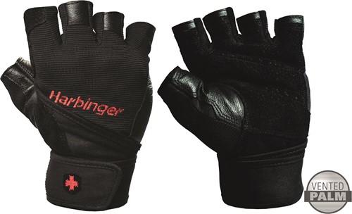 Harbinger Men's Pro Fitness Handschoenen met Wrist Wrap - Zwart