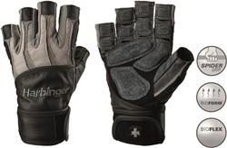 34b5442b3a3 Harbinger Bioform WristWrap Fitness Handschoenen - Grey/Black
