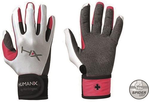 Harbinger Women's X3 Competition Crossfit Fitness Handschoenen WristWrap Gray/Pink/White - L