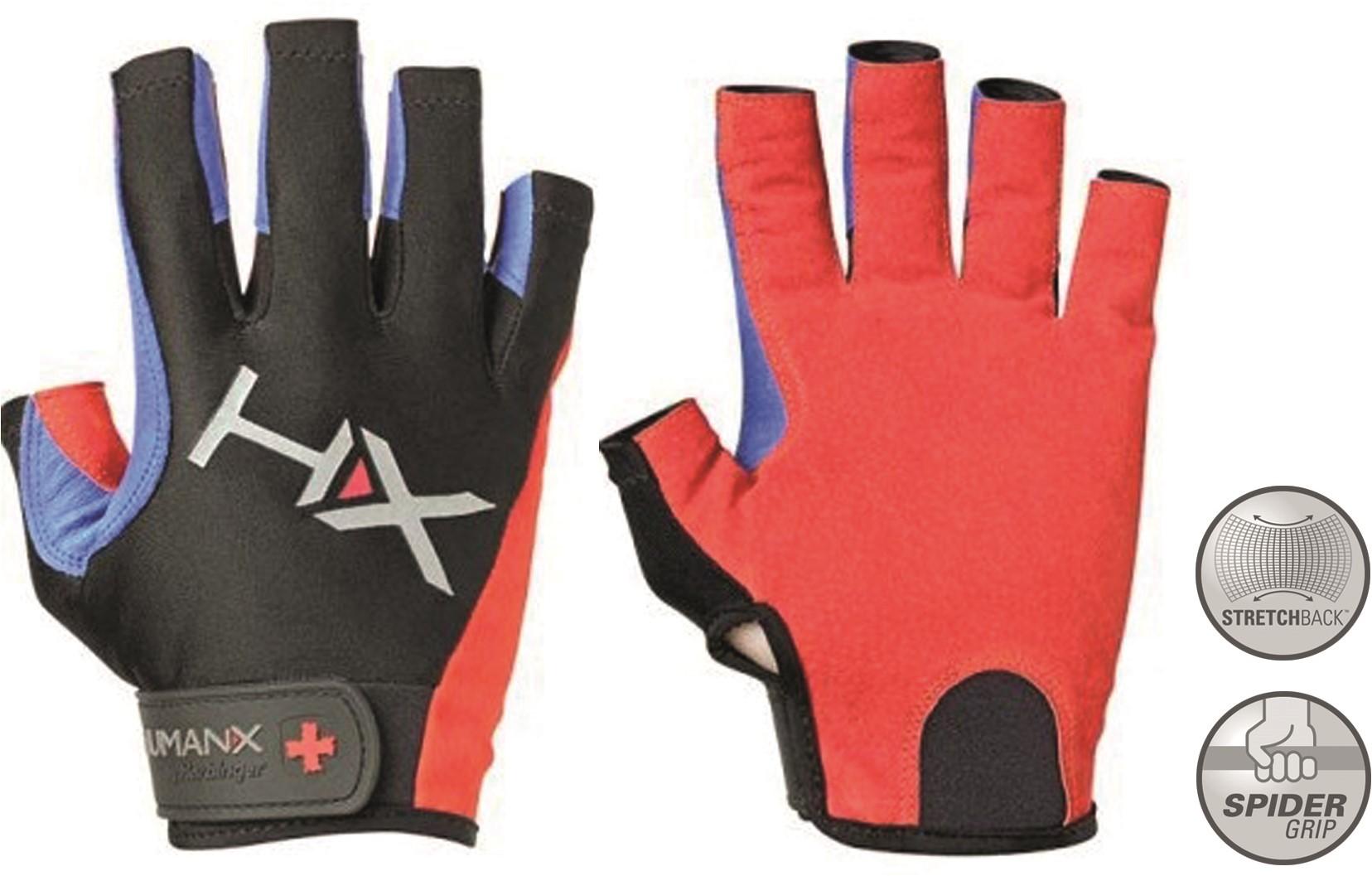 55d75653849 Harbinger Men's X3 Competition Open Finger Crossfit Fitness Handschoenen Red /Blue/Black
