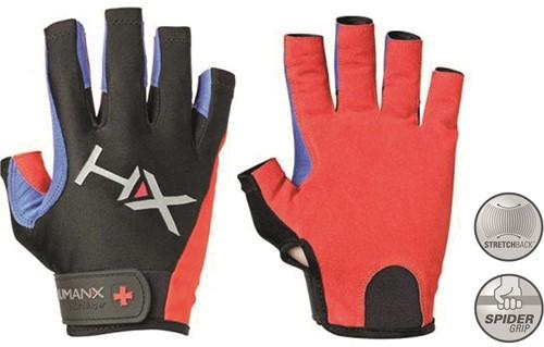 Harbinger Men's X3 Competition Open Finger Crossfit Fitness Handschoenen Red/Blue/Black - M