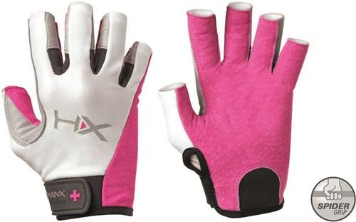 Harbinger Women's X3 Competition Open Finger Crossfit Fitness Handschoenen Pink/Gray/White - L