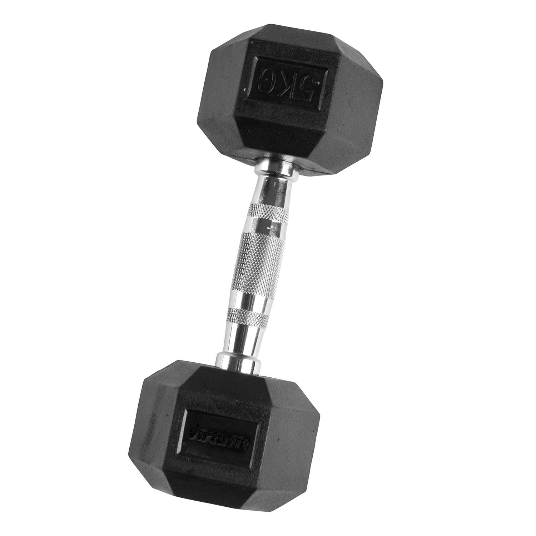 VirtuFit Hexa Dumbbell Pro - 5 kg - Per Stuk