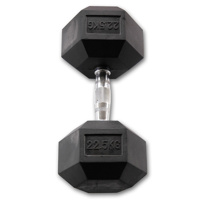 Body-Solid Hexagon Dumbbell - Rubber - 22,5 kg - Per paar