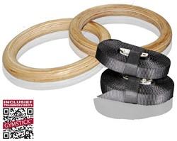 Gymstick Houten Crossfit Gymringen Inclusief Straps - Met Online Trainingsvideo's