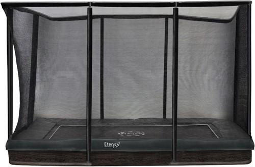 Etan Premium Gold Combi Inground Trampoline met Veiligheidsnet - 281 x 201 cm - Grijs