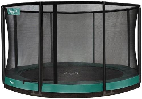 Etan Premium Gold CombiInground Trampoline met Veiligheidsnet - 335 cm - Groen
