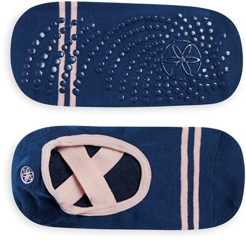 Gaiam Grippy Yoga Barre Socks - Anti-slip Yogasokken - Indigo