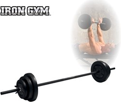 Iron Gym 20kg Adjustable Barbell Set - 25mm