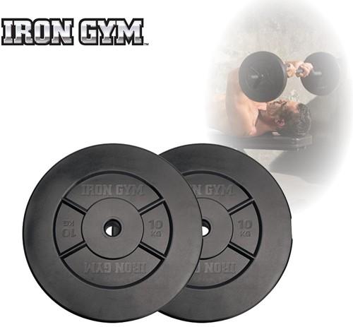 Iron Gym 20kg Plate Set, 2 x 10kg - 25mm