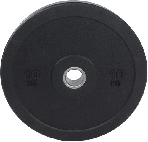 Lifemaxx Hi-Temp Olympische Halterschijf - 50 mm - 10 kg - Zwart