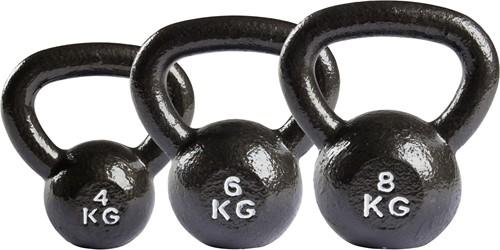 VirtuFit Kettlebell Set Gietijzer 4-6-8 kg