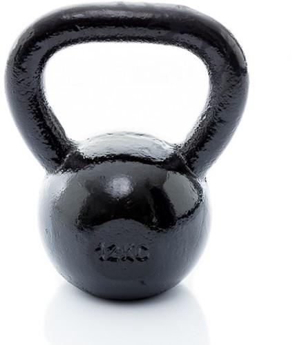 Muscle Power Gietijzeren Kettlebell - Zwart - 12 kg