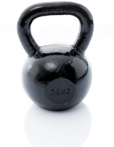 Muscle Power Gietijzeren Kettlebell - Zwart - 28 kg