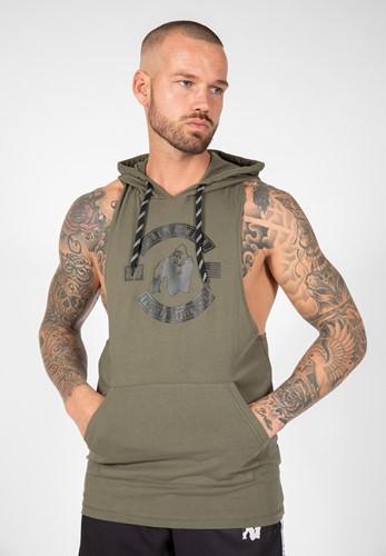 Gorilla Wear Lawrence Hooded Tank Top - Legergroen