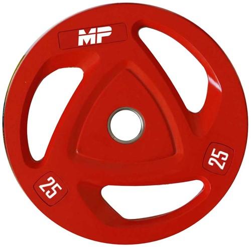 Muscle Power Rubberen Halterschijf - Rood - 25 kg (50 mm)