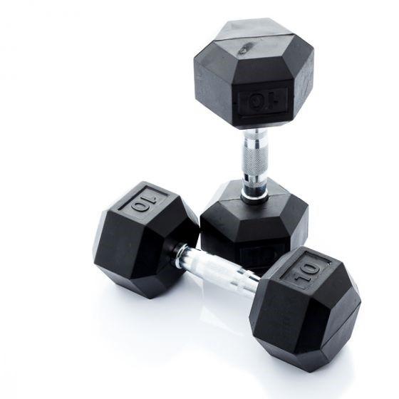 Muscle Power Hexa Dumbell - 10 kg - Per Stuk