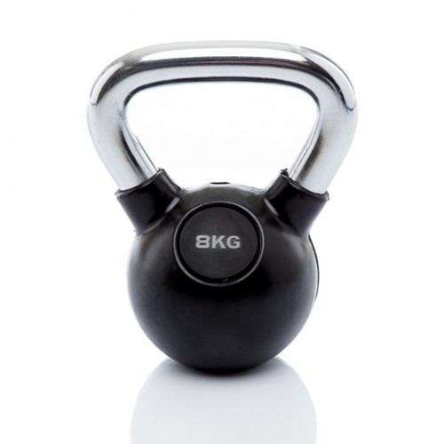 Muscle Power Rubberen Kettlebell - 8 kg