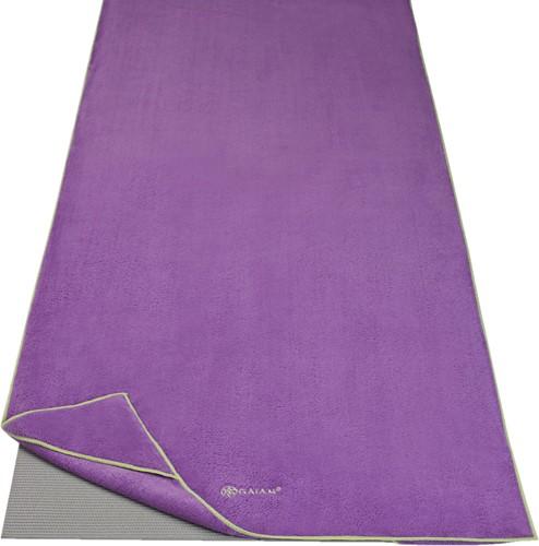 Gaiam Stay Put Yoga Handdoek - Purple