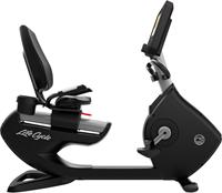 Life Fitness Platinum Discover SE3HD Ligfiets - Arctic Silver - Gratis montage-2
