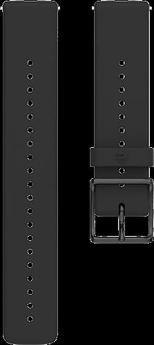 Polar Ignite Verwisselbare Silliconen Polsband - Zwart/Zwart