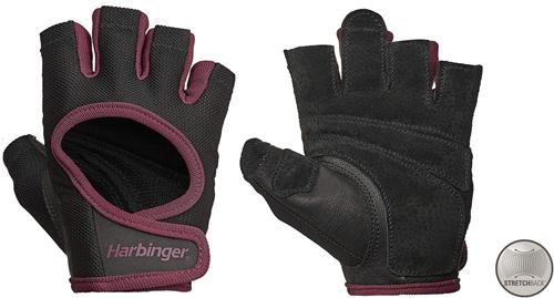 Harbinger Women's Power Stretchback Fitness Handschoenen - Zwart/Rood