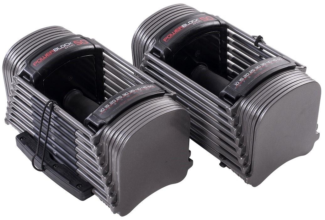 PowerBlock Sport 50 Dumbbellset - 2.3 kg tot 22.7 kg