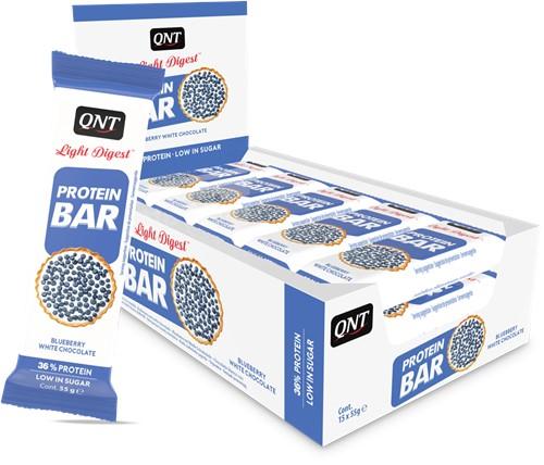 QNT Light Digest Protein Bar - 15 x 55 gr - Bosbessen / Witte Chocolade