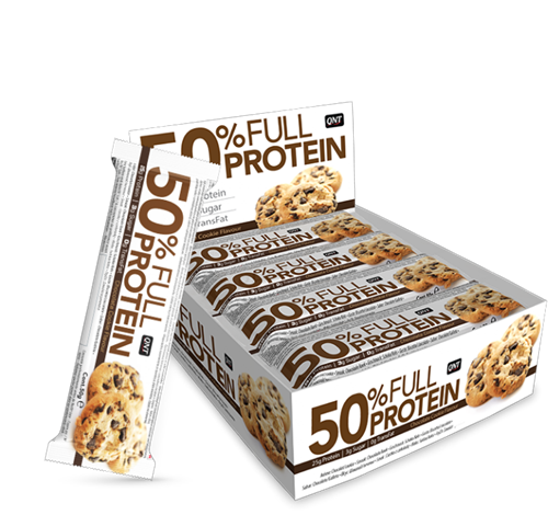 QNT  50% Full Protein Bar - 12  repen - Chocolate Cookie