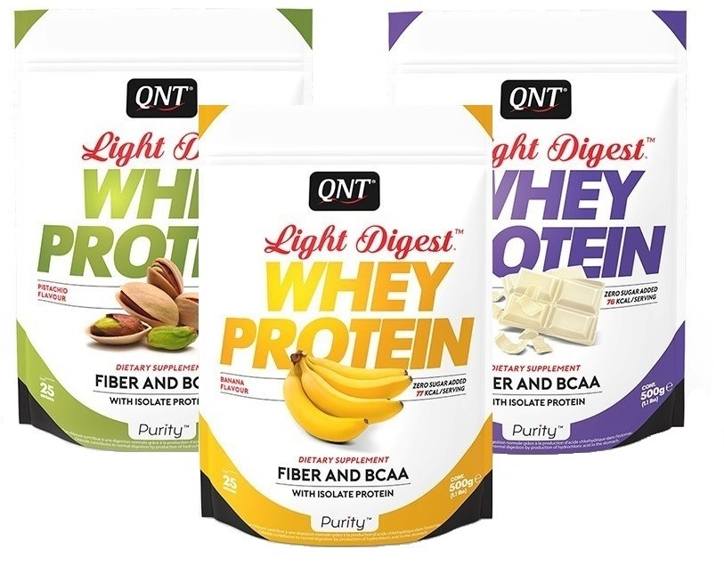 QNT Purity Line Light Digest Whey Protein - 500 gram - Sweet Popcorn