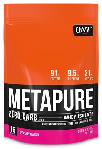 QNT Koolhydraatarm Zero Carb Metapure 480 gram Red Candy