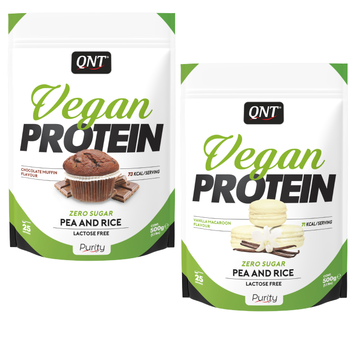 QNT Vegan Protein - 500 gram - Chocolate Muffin