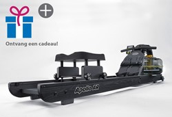 First Degree Fitness Apollo Hybrid Rower AR Black Roeitrainer - Gratis montage
