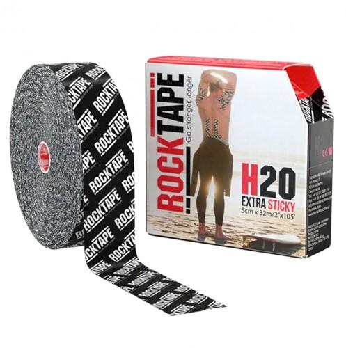 RockTape H20 Kinesiotape - Sporttape - 5 cm x 32 m - Zwart Logo