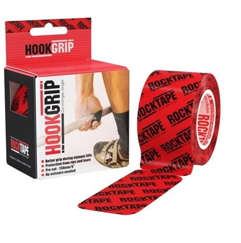 RockTape Hook Grip Kinesiotape - Sporttape - 5 cm x 5 m - Rood Logo