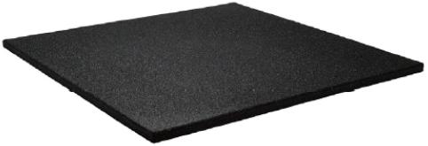 Sportvloer Tegel met Fijne Korrel met V-Groef - 100 x 100 x 1,5 cm - Zwart