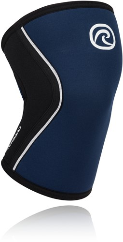 Rehband RX Kniebrace - 5 mm - Zwart/Marineblauw