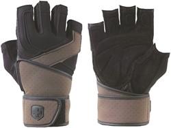 Harbinger Training Grip WristWrap 2 Fitness Handschoenen - Black/Brown