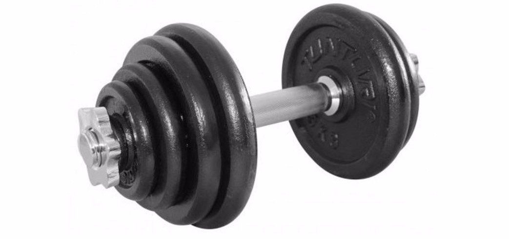 Tunturi Dumbbellset Gietijzer - 1 x 15 kg