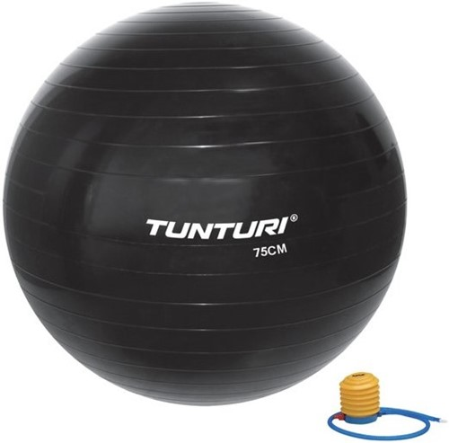 Tunturi Fitnessbal Gymbal Zwart - 75 cm