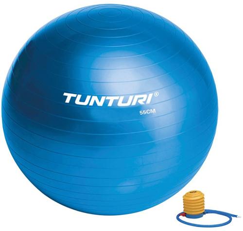 Tunturi Fitnessbal Gymbal Blauw - 55 cm