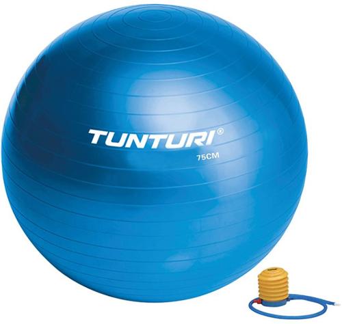 Tunturi Fitnessbal Gymbal Blauw - 75 cm