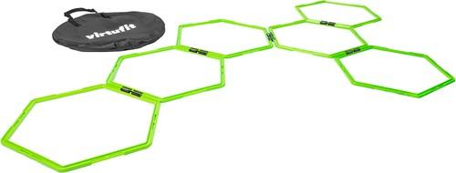 VirtuFit Hexagon Agility Grid - Speedladder -  6 Stuks - Inclusief opbergtas