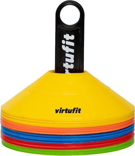 VirtuFit Trainingshoedjes met houder - Pionnen - 50 Stuks - Incl. draagnet