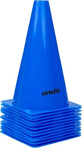 VirtuFit Pionnen Set - 23 cm - 12 Stuks - Blauw