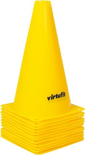 VirtuFit Pionnen Set - 23 cm - 12 Stuks - Geel