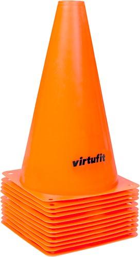 VirtuFit Pionnen Set - 23 cm - 12 Stuks - Oranje