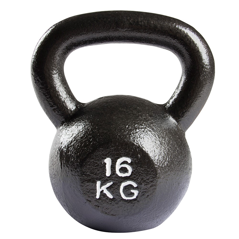 VirtuFit Kettlebell Pro - Kettle Bell - Gietijzer - 16 kg - Tweedekans