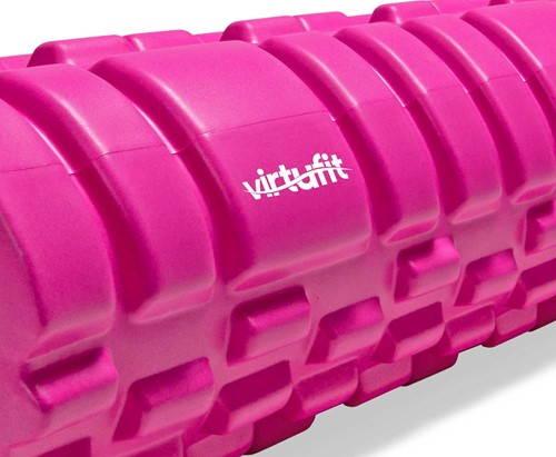 VirtuFit Grid Foam Roller - Massage roller - 62 cm - Roze-2